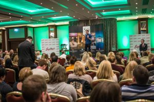Niall Breslin gives a talk on mental health to a capacity crowd at Castletroy Park Hotel Picture: Cian Reinhardt/ilovelimerick